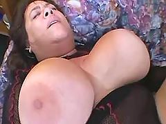 Mom gets huge tits jizzed