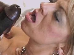 Mature fucks w blacky and gets cum
