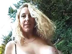 Sex with busty housewife