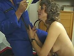 Mature wife sucks plumber