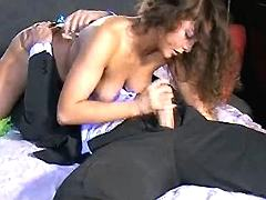 Milf blows young guy n gets licked
