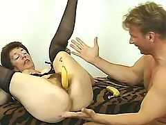 This granny loves bananas